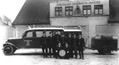 Erstes Feuerwehrfahrzeug